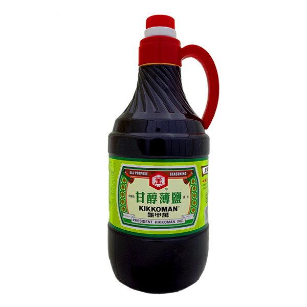 統一 龜甲萬 甘醇薄鹽醬油 1600ml【康鄰超市】