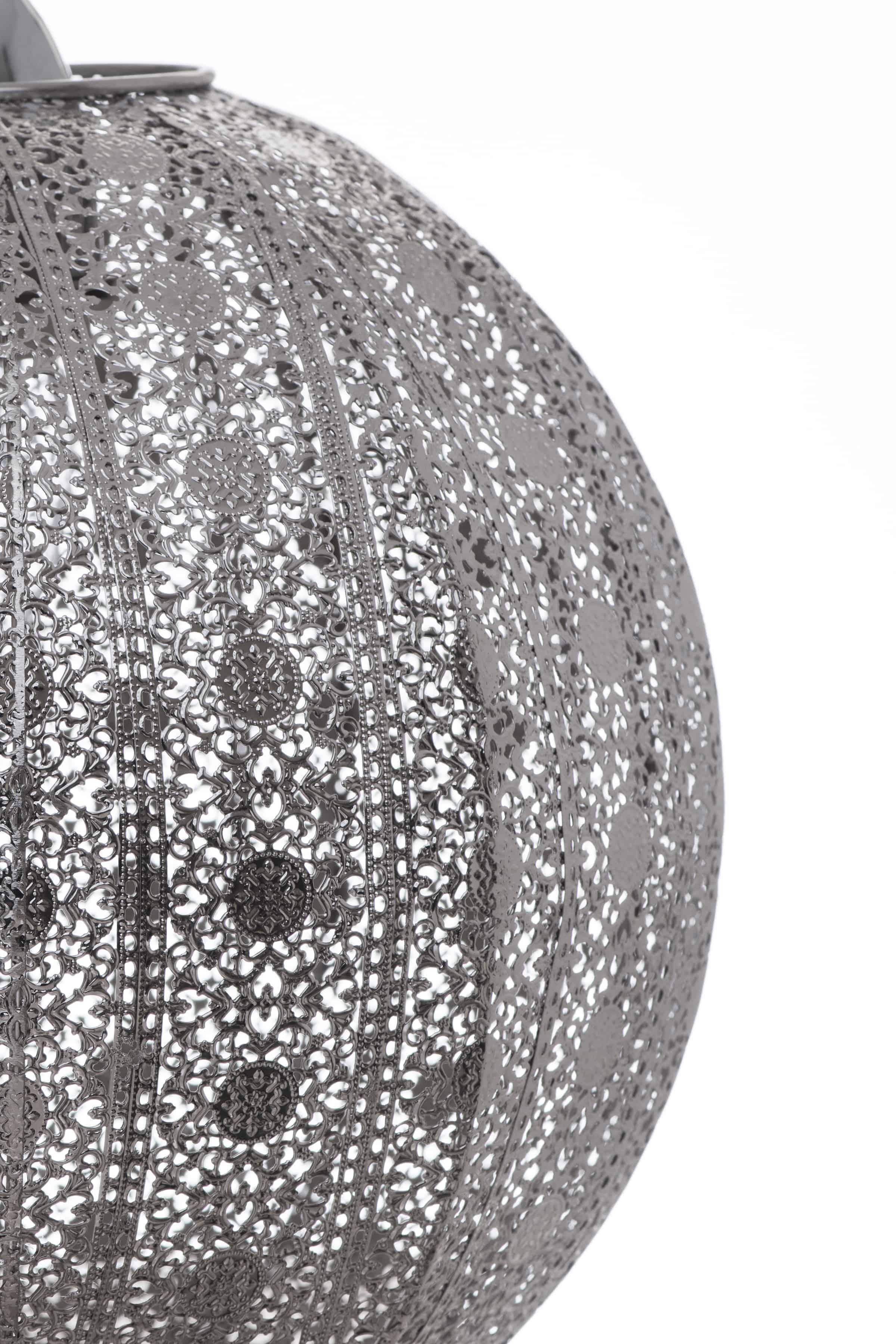 亮鎳蕾絲花邊圓形吊燈-BNL00076 4
