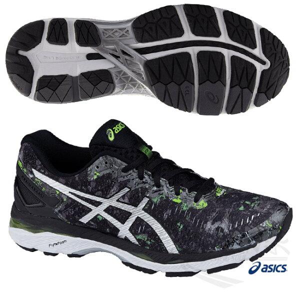 ASICS亞瑟士男慢跑鞋GEL-KAYANO23LITE-SHOW(黑綠)男高支撐型慢跑鞋T6A0N-9093【胖媛的店】