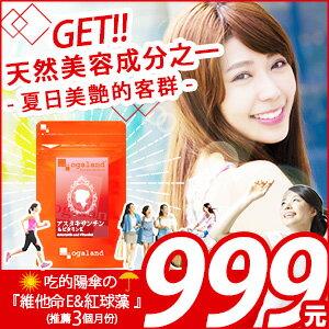♚  紅球藻膠囊 (蝦紅素)【推薦約3個月份】 日本進口保健食品