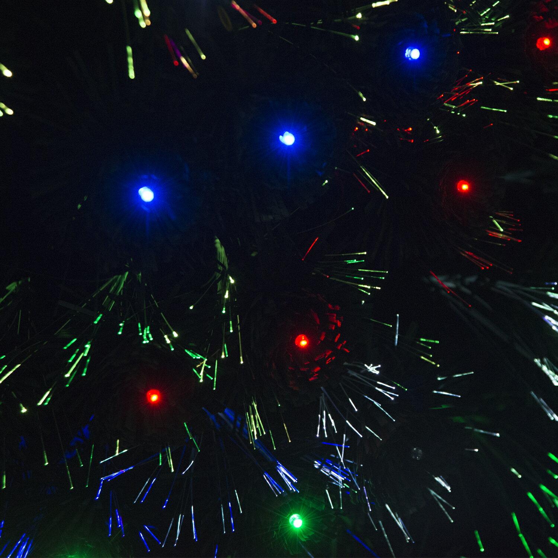 HomCom 3' Artificial Holiday Decoration Light Up Christmas Tree - Green 5