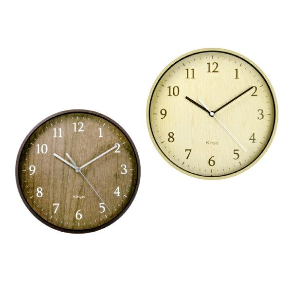 CL-155自然風木紋掛鐘時鐘鬧鐘掛鐘壁鐘LCD電子鐘【迪特軍】