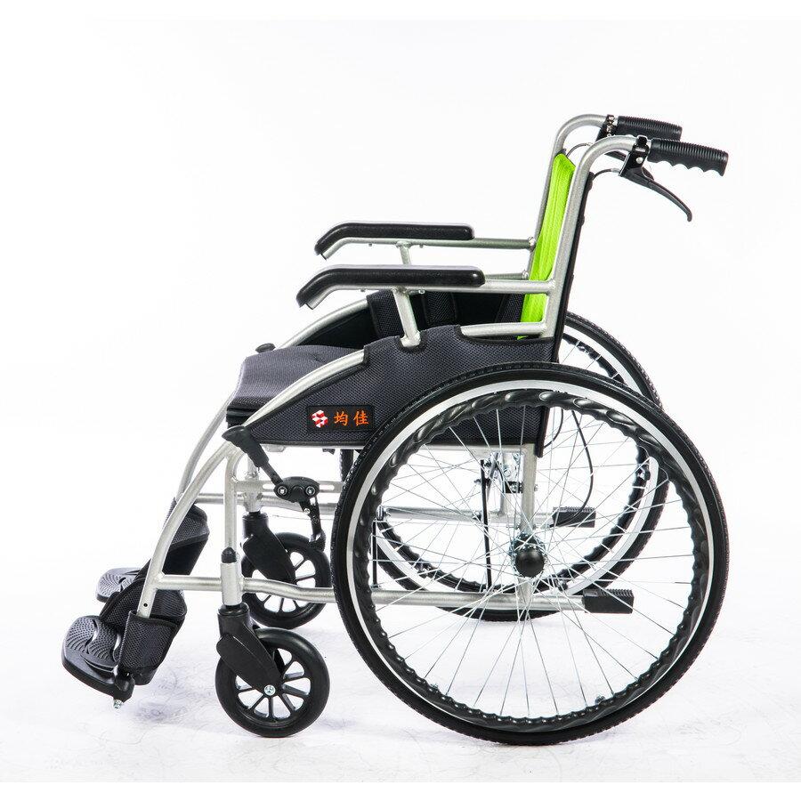 輪椅-B款 均佳JW-120 鋁合金 流線型 經濟型 輪椅B款