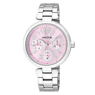 CITIZEN星辰WICCA(BH7-415-91)春青年華三環時尚腕錶/粉紅面33mm