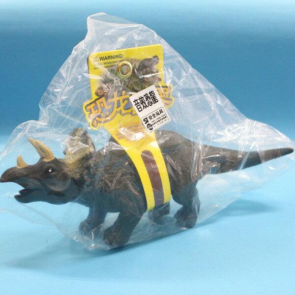 恐龍公仔 三角龍(墨綠) 聲效恐龍 侏羅紀恐龍玩具(會叫.全身軟膠)/一隻入{促199}仿真恐龍模型~生