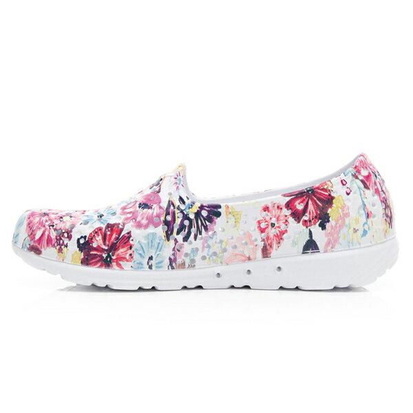 《2019新款》Shoestw【92U1SA07PK】PONY TROPIC 水鞋 軟Q 防水 懶人鞋 洞洞鞋 五彩花卉白 女生 2