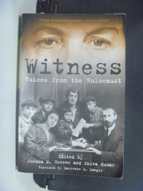~書寶 書T6/原文小說_GJQ~Witness: Voices from the Hol