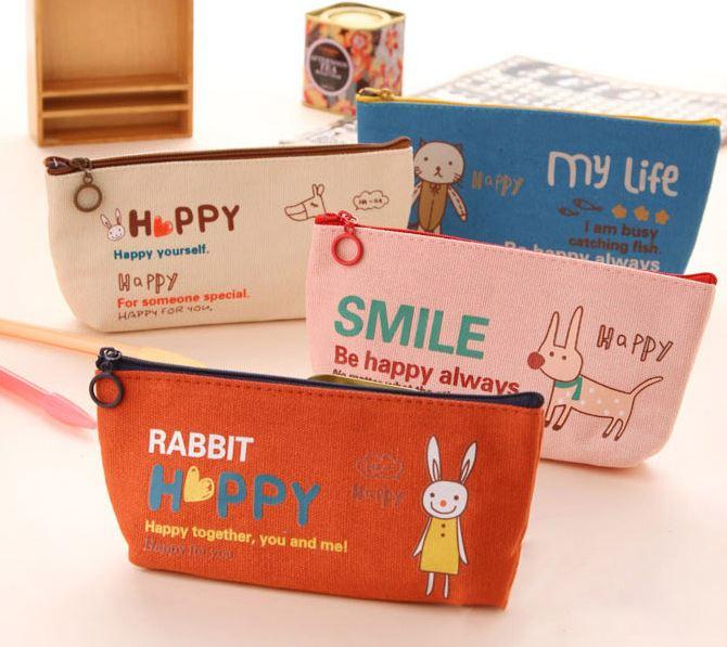 【省錢博士】創意文具可愛卡通動物帆布筆 / 袋學生鉛筆袋