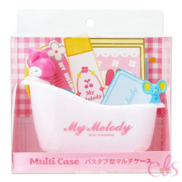 日本 Melody 美樂蒂 浴缸造型多用途收納組 ☆艾莉莎ELS☆