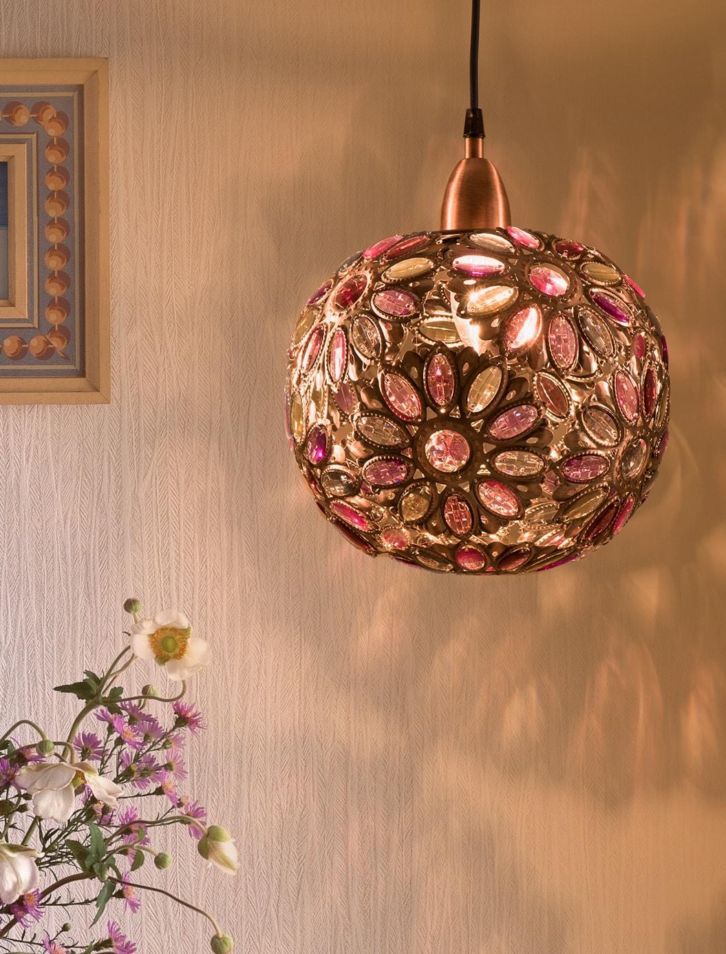 紅銅波斯蘭菊吊燈-BNL00087 6