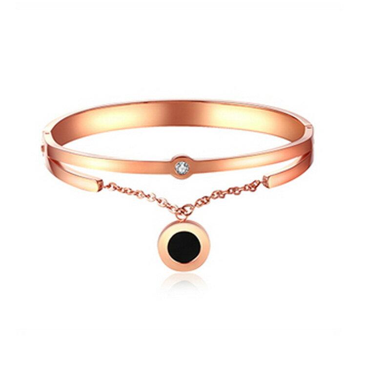 Mao ~5折 價~ 款 精美特色鑲鑽 女款鈦鋼手環