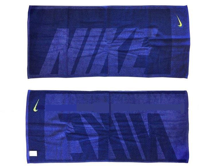 【H.Y SPORT】NIKE AC2383-430 運動毛巾/吸汗毛巾/純棉毛巾 (藍色) 正版公司貨