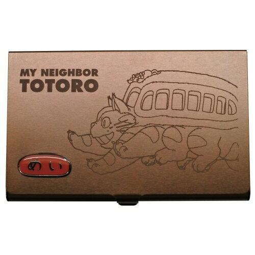【真愛日本】18081400016 鐵製名片盒-貓公車深棕 貓公車 龍貓 totoro 名片盒 鐵製 日本帶回 卡片盒 商務大容量 金屬名片盒 現貨+預購