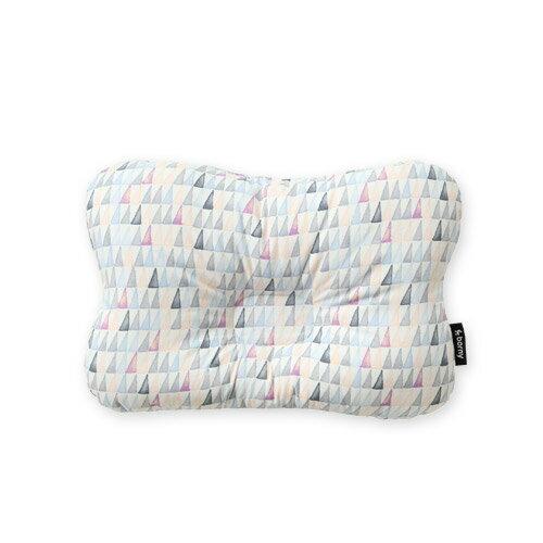 韓國【 Borny 】3D透氣純棉塑型嬰兒枕(6個月以上適用) (藍線筆) - 限時優惠好康折扣