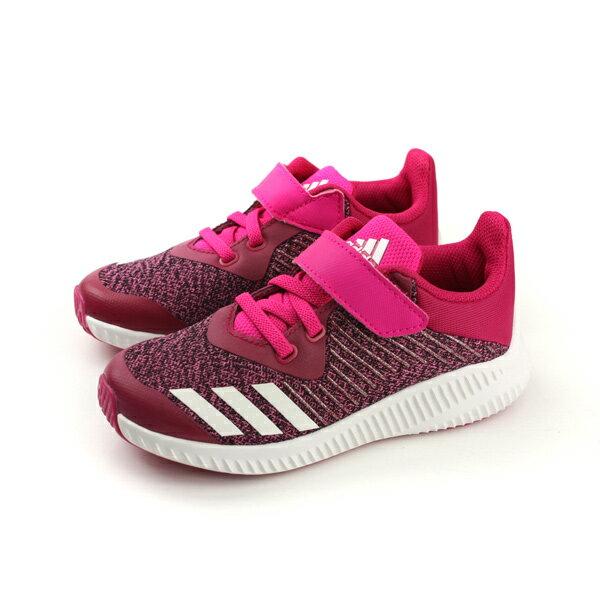 HUMAN PEACE:adidasFortaRunELK慢跑鞋運動鞋魔鬼氈桃紅色中童BA9496no493