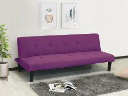 !新生活家具!《青青》紫色 沙發床 亞麻布 三人座 三人沙發 布沙發 三段調節 臥室 小資族 日式 現代 5色