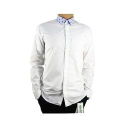 【KENZO】藍領長袖襯衫(白) F655CH1021FA 01