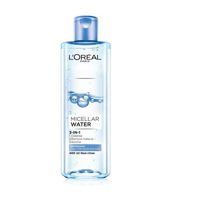 巴黎萊雅 三合一卸妝潔顏水-清爽型