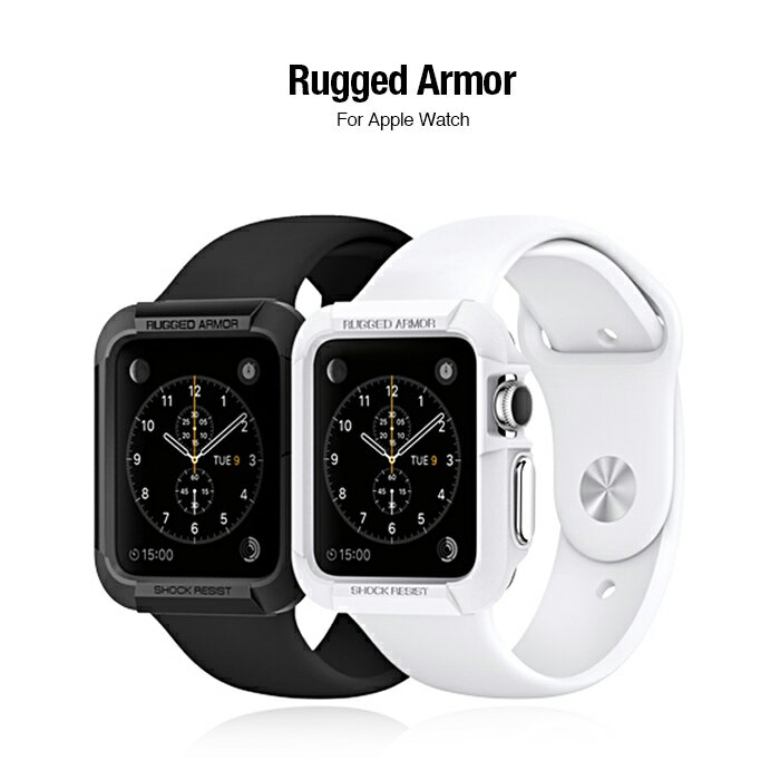Spigen Apple Watch (42mm) Rugged Armor-彈性防震保護殼