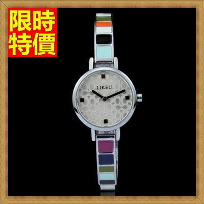 手錶 石英錶^(手鍊 ^)~簡約彩虹陶瓷潮流女腕錶2色71r8~ ~~米蘭 ~