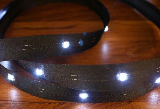 LiTex LED寬版緞帶15mm-白燈系列-中間燈(12色緞帶可選擇) 2