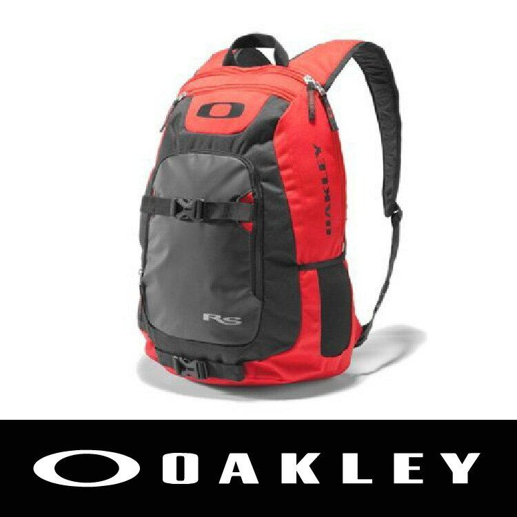 【新春滿額送後背包!只到2/28】OAKLEY STREETMAN 街頭款 後背包 可放眼鏡 內有防水袋 15吋筆電 紅黑 92483-465 萬特戶外運動