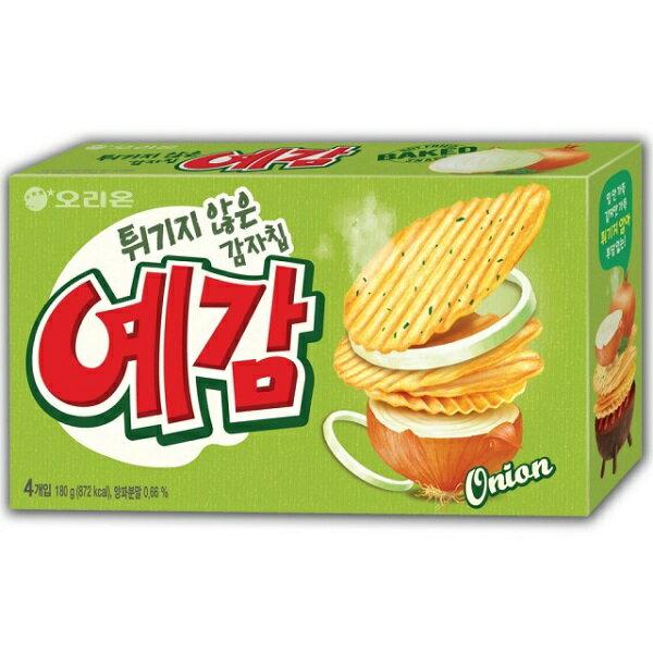 韓國餅乾 好麗友Orion 預感烘焙洋芋片4入裝 (大盒) 洋蔥口味