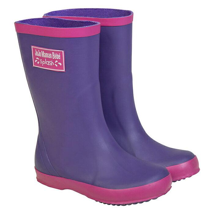 ~hella 媽咪寶貝~英國 JoJo Maman BeBe 嬰幼兒童雨鞋_紫色 JJWG