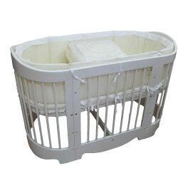 童心 潘朵拉多功能嬰兒床 70x130(含寢具組.床墊)