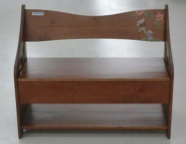 【尚品傢俱】601-23 美洛小熊 彩繪實木穿鞋椅-可置物(數量有限,售完為止)