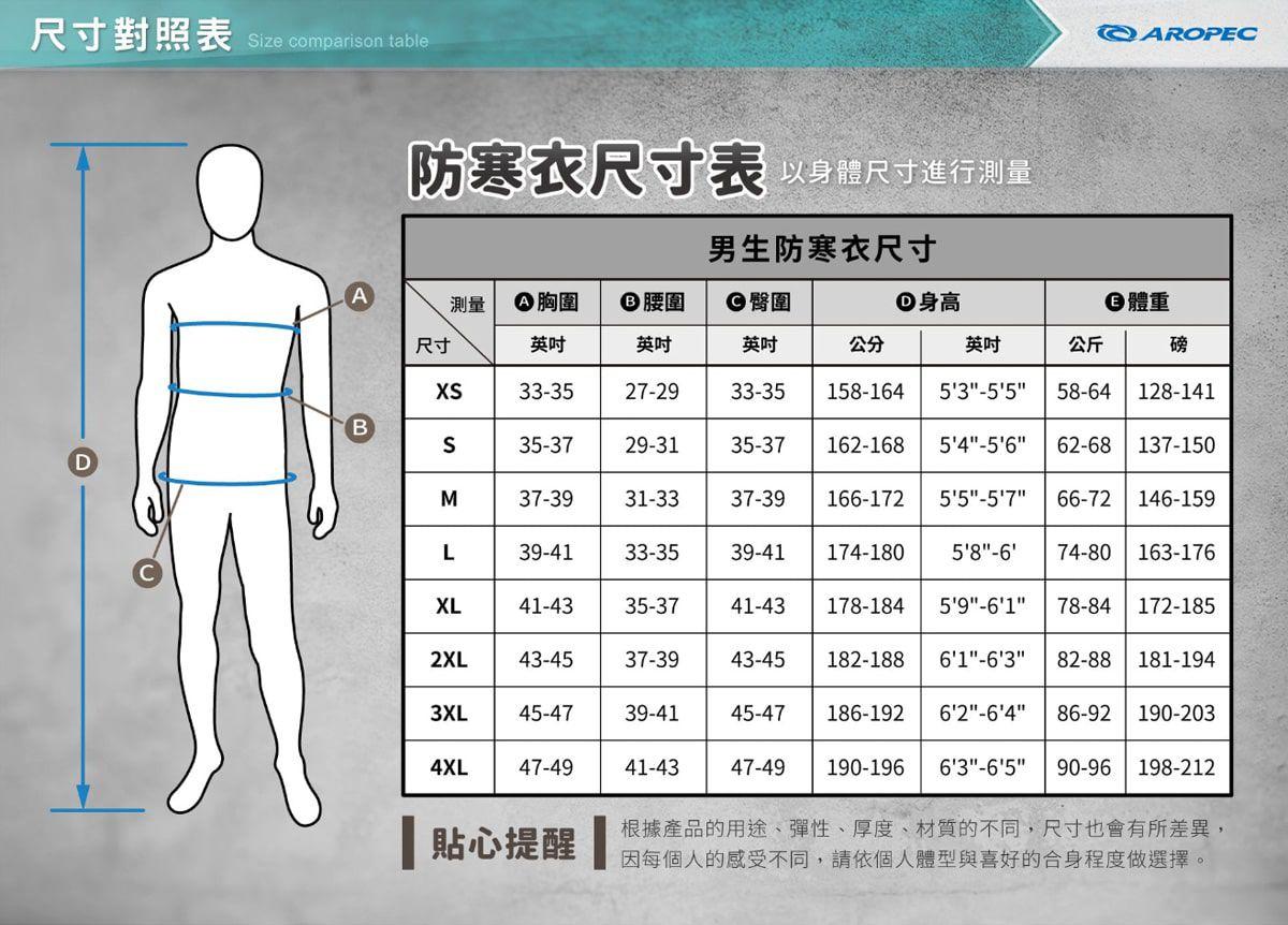 [開發票 台灣製 Aropec] 5B130M 3mm NPI耐磨護膝 後拉鍊 男款 長袖防寒衣,潛水衣