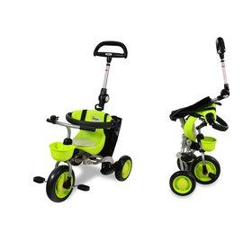 【淘氣寶寶●現貨】日本IDES三輪車第三代摺疊三輪背包車(綠)