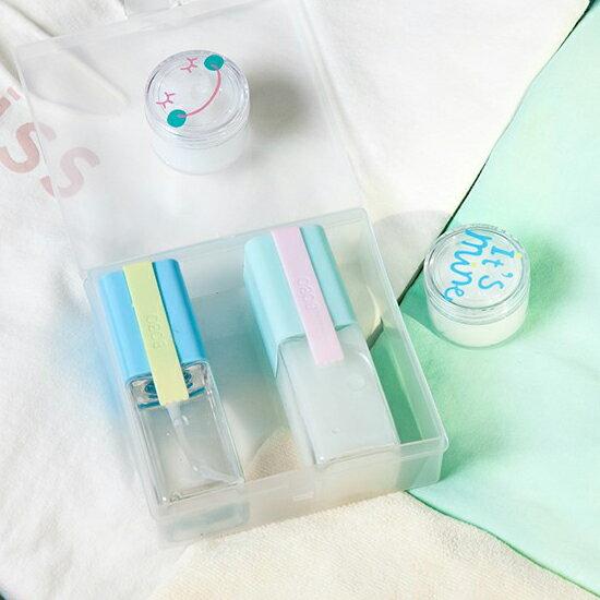 ♚MY COLOR♚分裝瓶附盒五件組 乳液 噴霧 分裝 旅行 便攜 出國 登機 美容 保養 保濕【F58】