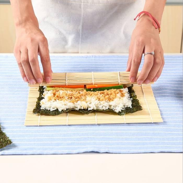 [Hare.D] 壽司竹捲簾 壽司簾 海苔飯捲 紫菜包飯 飯糰 diy壽司工具 日本壽司料理必備天然竹捲簾