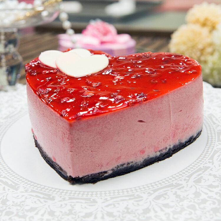 法式心形草莓覆盆子慕斯派(6吋)★免運★蘋果日報 母親節蛋糕【布里王子】需五天前預訂 1