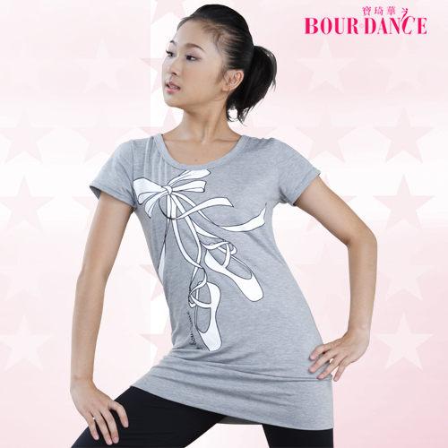 *╮寶琦華Bourdance╭*專業瑜珈韻律芭蕾☆芭蕾舞鞋造型長版上衣【BDW10B19】