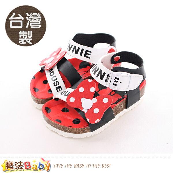 女童鞋台灣製迪士尼米妮正版兒童涼鞋魔法Baby~sk0423
