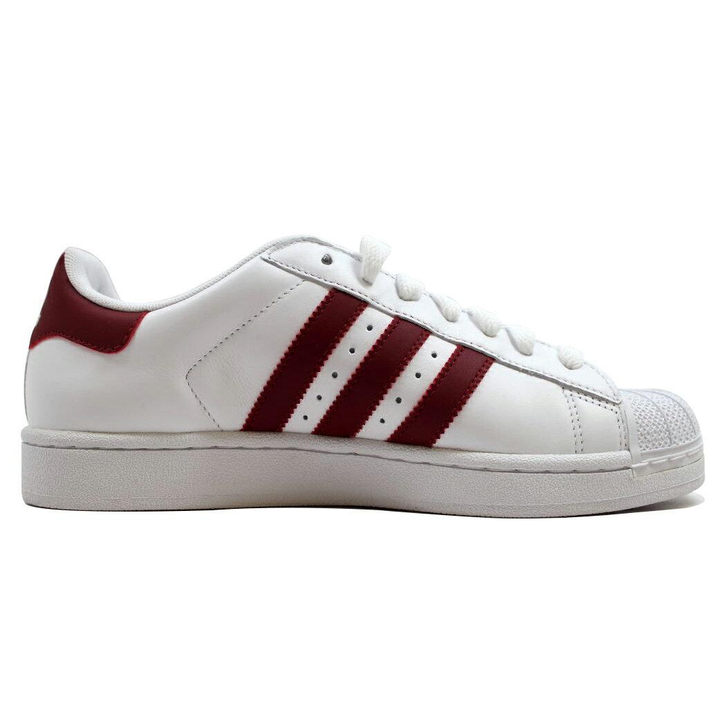 Kixrx: Adidas Superstar II 2 blanco / cardenal rojo blanco g15564