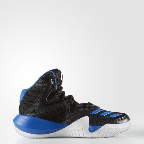 ADIDAS BASKETBALL KIDS CRAZY TEAM 童鞋 大童 籃球 中底 緩衝 黑 藍 【運動世界】 BY3526
