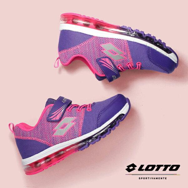 【巷子屋】義大利第一品牌-LOTTO童款FUNKNIT全氣墊編織跑鞋[6567]紫單足158g超值價$952免運