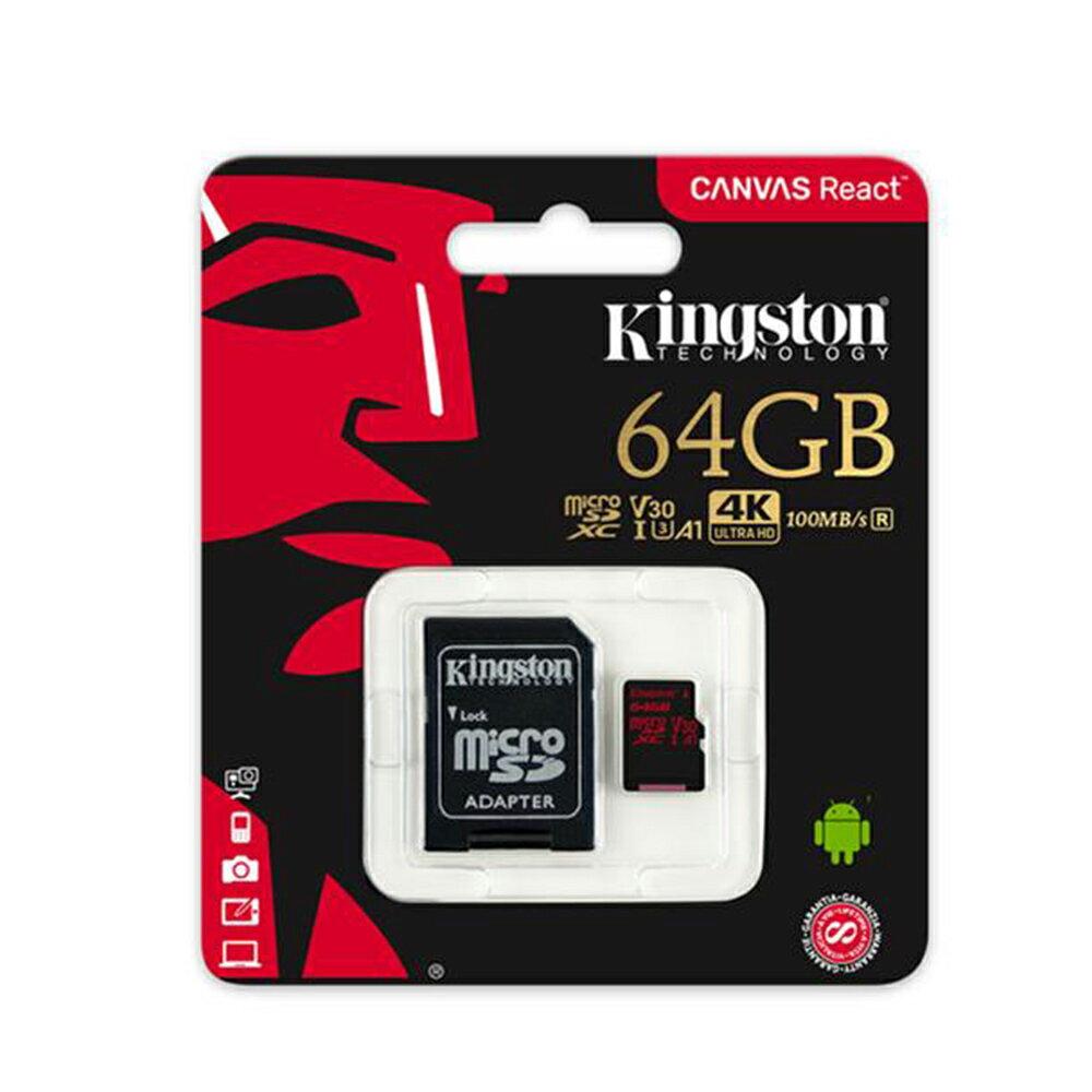 Kingston 金士頓 64GB microSDXC TF UHS-I U3 A1 V30 記憶卡 SDCR / 64GB 2