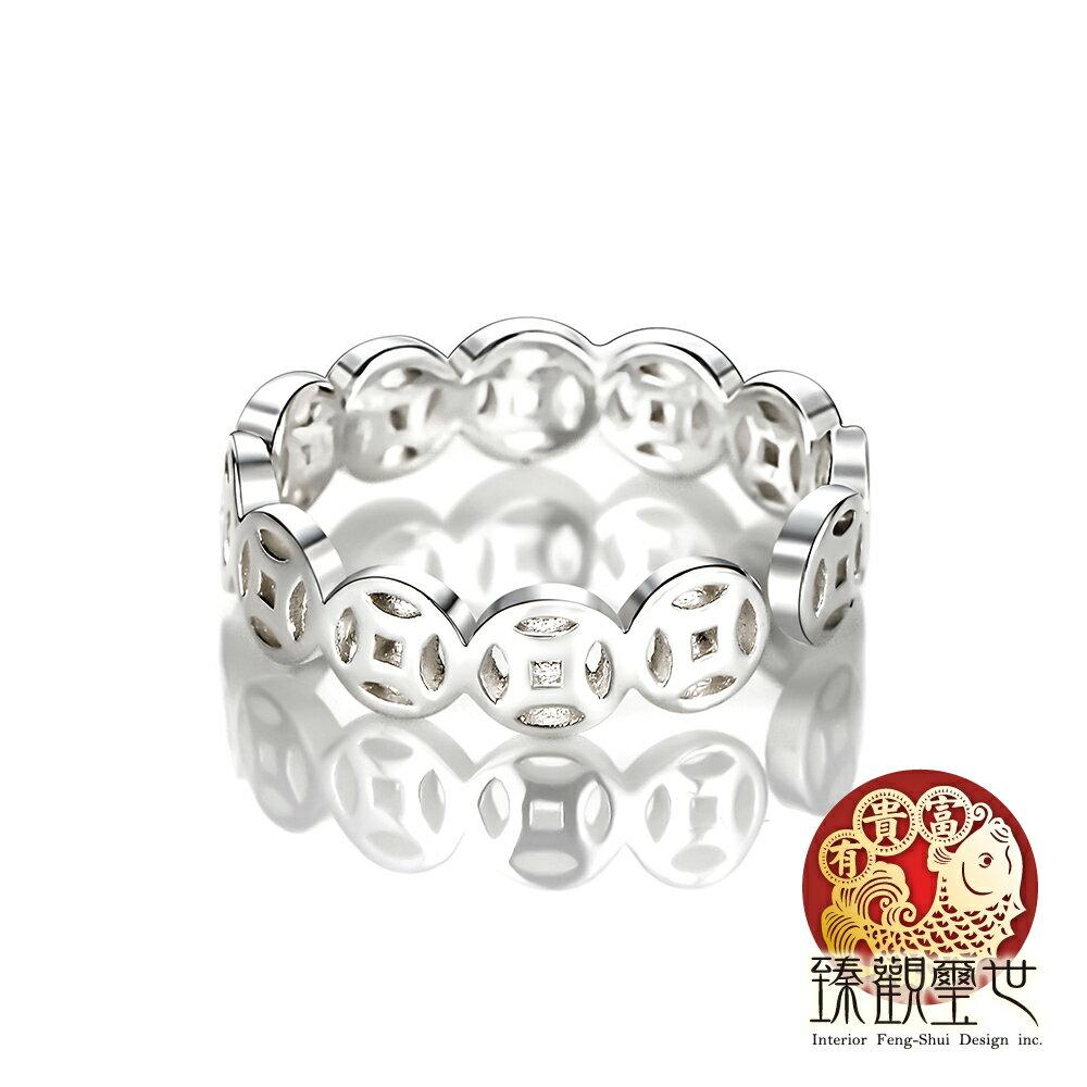 純銀銅錢轉運戒指
