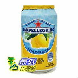 [COSCO代購 如果沒搶到鄭重道歉] San Pellegrino 聖沛黎洛 氣泡水果飲料 檸檬口味 330毫升 X 24罐 W108311