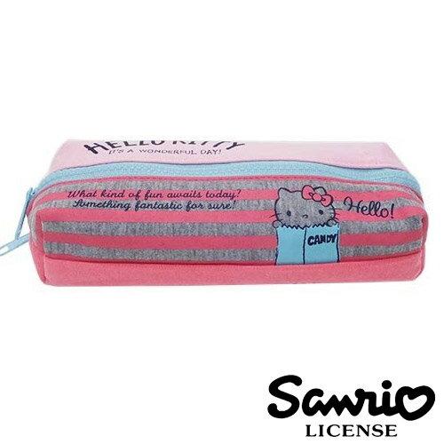 粉紅款【 】凱蒂貓 HelloKitty 雙層 筆袋 鉛筆盒 三麗鷗 Sanrio - 424763