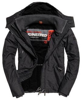 極度乾燥 Superdry Windcheater 17年新款 防風外套 機能外套 三層拉鍊 深灰