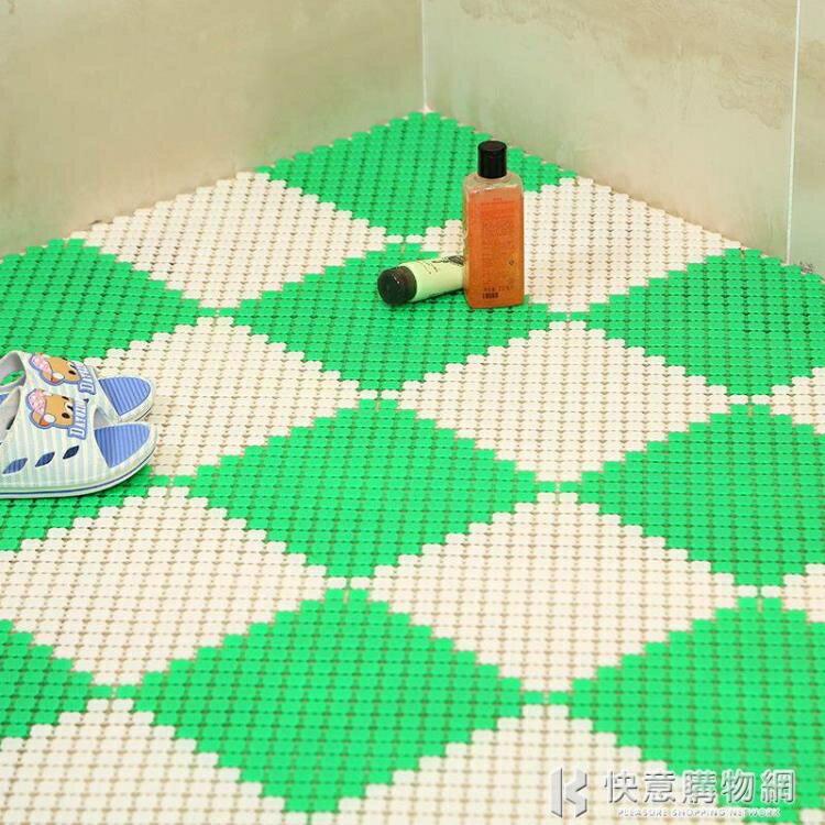 【618購物狂歡節】新款網紅浴室防滑墊25 衛生間拼接地墊洗手間隔水腳墊 鏤空防摔墊特惠促銷