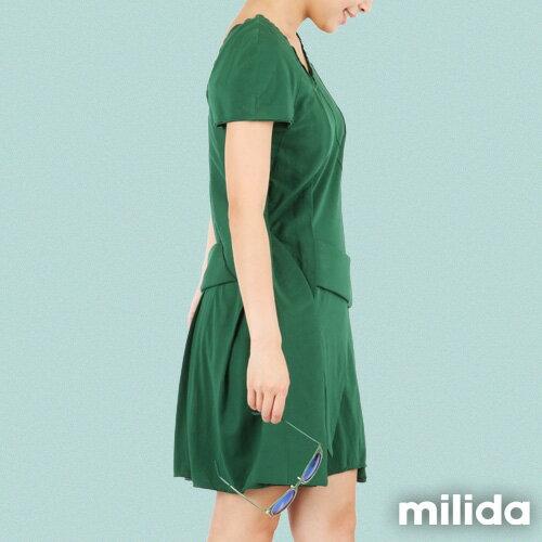 【Milida,全店七折免運】-夏季尾聲-素色款-厚棉立體造型設計 3