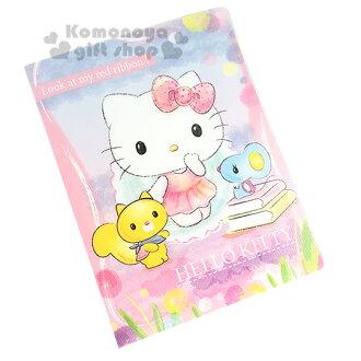 〔小禮堂〕Hello Kitty 20頁活頁資料夾《紫粉.素描風.小松鼠.書本》可放A4大小