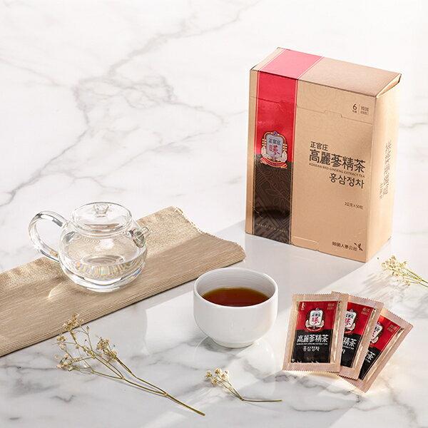 宅配免運【正官庄】高麗蔘精茶50包 / 盒 禮盒裝 高濃度蔘茶 濃縮即溶茶粉 4 / 10左右出貨 2