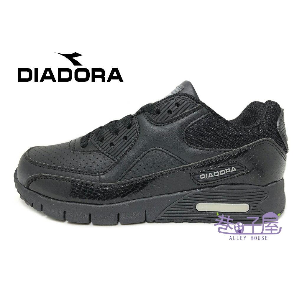 【巷子屋】義大利國寶鞋-DIADORA迪亞多納 女款D寬楦超輕潮流慢跑鞋 200g [2880] 黑 超值價$590